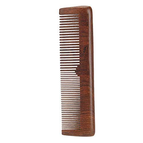 Peigne à barbe pour hommes portable, style rétro classique bois de santal barbe anti-statique peigne à cheveux moustache