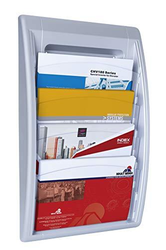 Paperflow 4060.35 Wand-Prospekthalter Quick Blick - A4 quer, alu