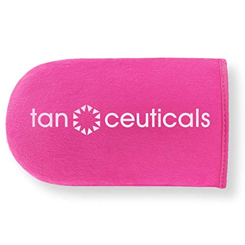 Tanceuticals Luxurious Self Tanning Mitt - For An Even, Streak-Free Self Tan - Protects Hands and Palms - For Use With Any Sunless Tanning Lotion, Mousse, Foam Or Spray - Washable Reusable Applicator Self Tanner Mitt