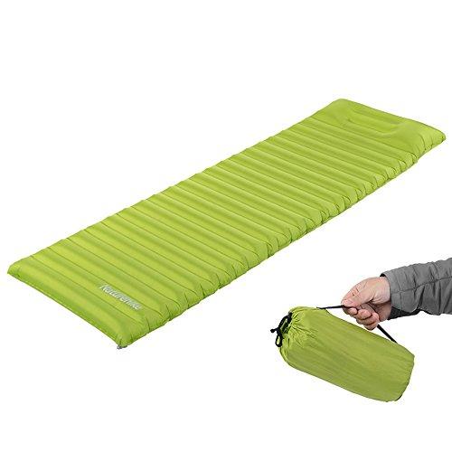 Ubens Naturehike Gonfiabile Materassino ad aria con Cuscino Tenda Materassino Camping Airbed Mattress(Green)