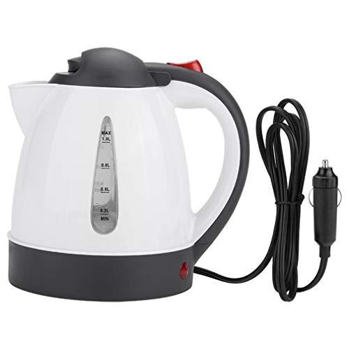 Hervidor de agua de viaje de 12 V 24 V para coche, camión, 1000 ml, hervidor de agua caliente, para té, café, acero inoxidable, gran capacidad