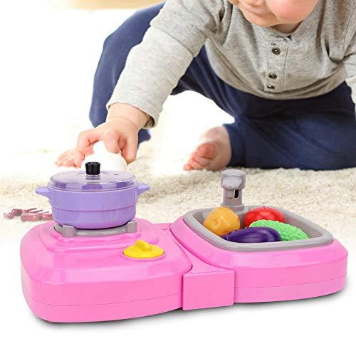 Kid Pretend Play Toy, Simulación Fregadero Juguete Calidad Material plástico PROMUEVE SENTIMIENTOS para regalo para juegos(pink)