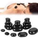 Masaje de pedicura con aceite esencial de piedra de spa de basalto negro, masaje de piedras calientes para spas, masajes, relajación corporal, etc.
