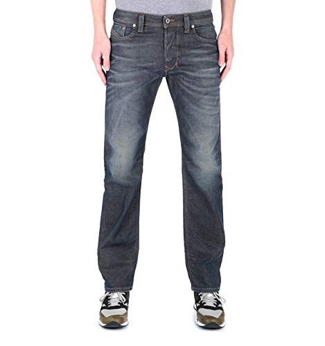 Diesel Larkee Pantaloni - Gerade geschnittene Jeans in dunkelblauer Waschung