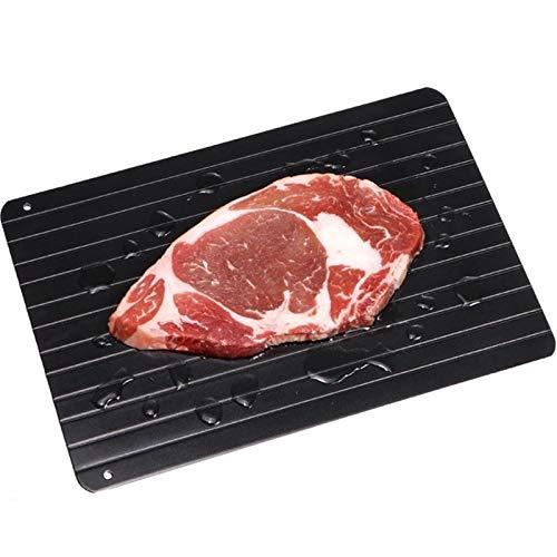 JHFGHJ Auftautablett, Rapid defrosting Tray Antihaftbeschichtung, kein Strom erforderlich, Auftauen Tray Plate Board Fast Food Wärmer schnelles Auftauen Tiefkühlkost Fleisch Fisch (M(30.5×22.5×2cm))