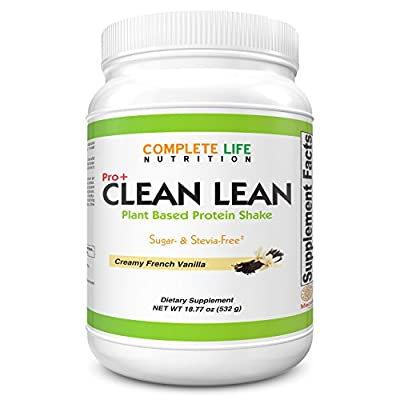 Clean Lean Vanilla Weight Loss Shake by Complete Life Nutrition - Natural Herbal and Vitamin Pea Protein Meal Replacement and Cleanse Shakes - Low Carb