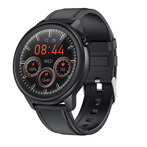Smartwatch F81 Smartwatch Fitnessuhr 1.3 Zoll Voll Touchscreen Fitness Tracker IP68 Wasserdicht Smart Watch mit Körpertemperatur Blutsauerstoff Schrittzähler Schlafmonitor Sportuhr für iOS Android