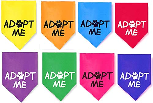 8 Pack Adopt Me Bandanas for Small Dogs