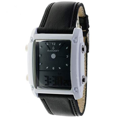 Radiant RA126602 Reloj Digital de Cuarzo para Hombre Nickel Free - Correa Negra
