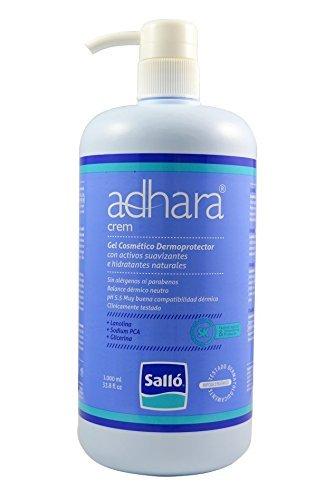 Adhara Crem: Gel cosmético dermoprotector hipoalergénico para ducha y baño - Activos hidratantes naturales - 1L