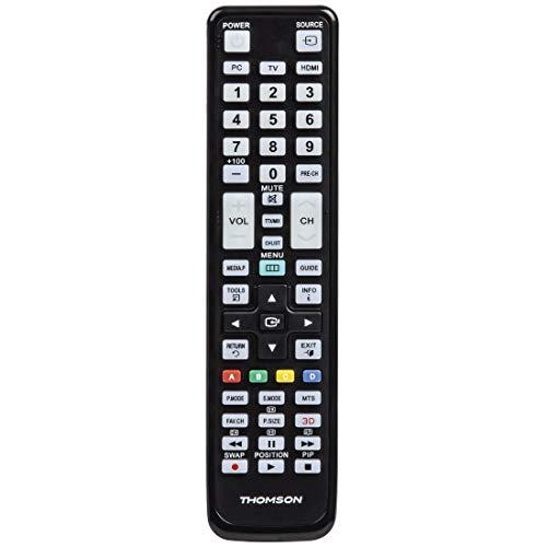 THOMSON TV roc1117sam IR-Funk-Tasten Schwarz–Fernbedienung (IR-Funk-Fernbedienung, Schwarz, Samsung, Kunststoff-Knöpfe)