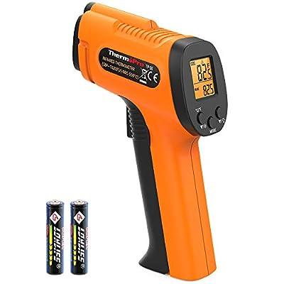 ThermoPro TP30 Digital Infrared Thermometer Gun Non Contact Laser Temperature Gun -58°F ~1022°F (-50°C ~ 550°C) with Adjustable Emissivity & Max Measure