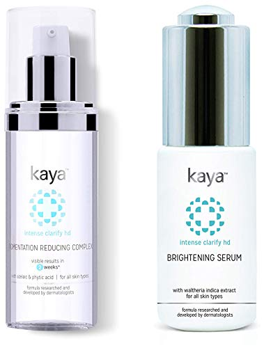 Kaya Clinic Pigmentation Reducing Complex, Fast absorbing Night cream for tanning & pigmentation mar & Kaya Clinic Brightening Serum (30ml)