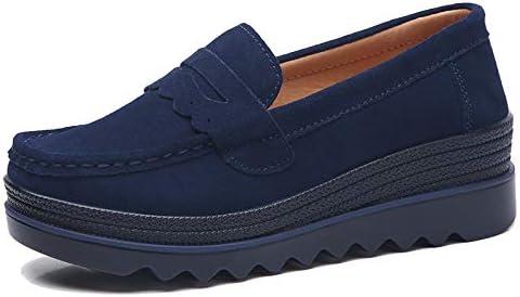Women's Platform Loafer Shoes Slip on Wedge Sneaker