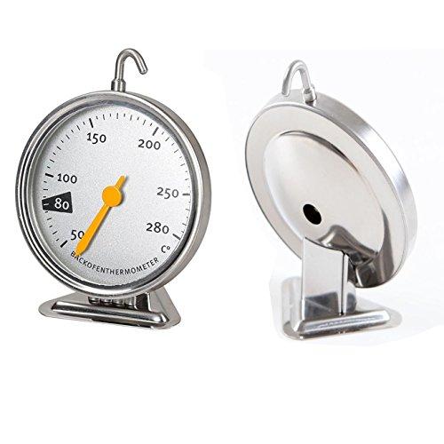 Termometro da forno in acciaio inox con gancio per appendere, strumento di cottura per la cucina 50-280 grado