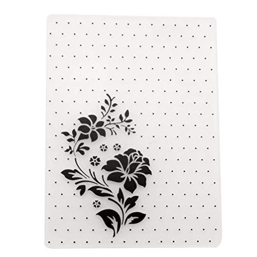 SUPVOX Carpetas de relieve artesanía muere plantilla de hojas florales de plástico plantilla de carpeta para álbum scrapbooking tarjeta de papel decoración artesanal