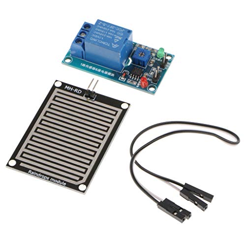 SM SunniMix Kit di Robot Arduino Gocce Pioggia Sensore umidità Foglie Piante Blu