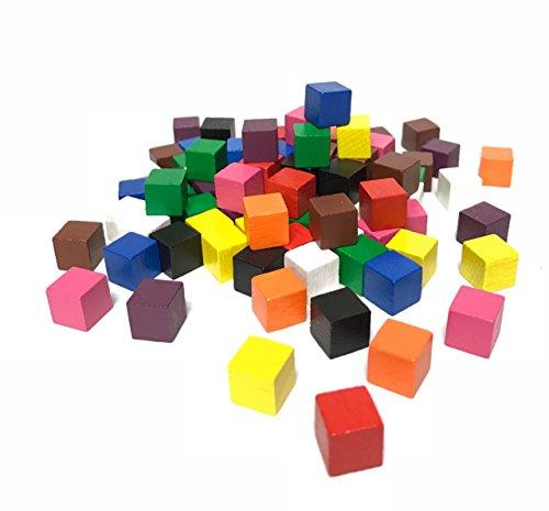 Cubos de madera 10 x 10 x 10 mm, 100...