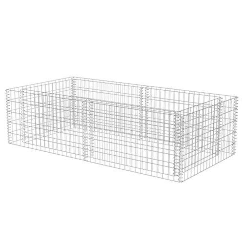 Nishore Steingabione Pflanzkübel Steinkorb Metallkorb aus Verzinktem Stahl 180x90x50cm 1400 kg/m³