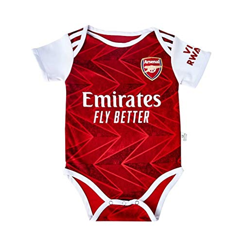 Arsenal FC Home Bodysuit Soccer Baby Comfort Jumpsuit for 9-18 Months Infant and Toddler 2020-2021 Season