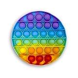 Droquimur   POPI antiestrés de Juguete   Pop It Sensorial   Explotar Burbujas   Circulo   Redondo   Arcoiris Multicolor