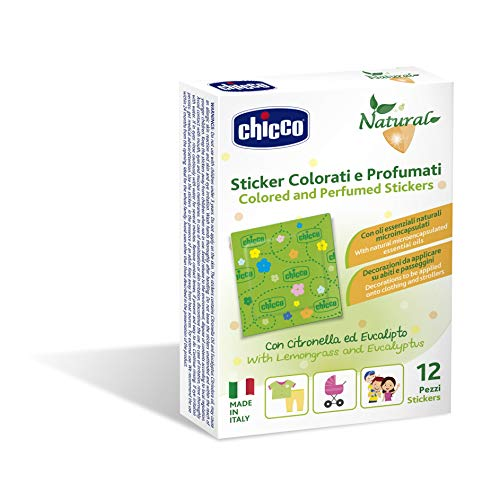 Chicco Cerotti Sticker Colorati e Profumati alla Citronella, multicolore