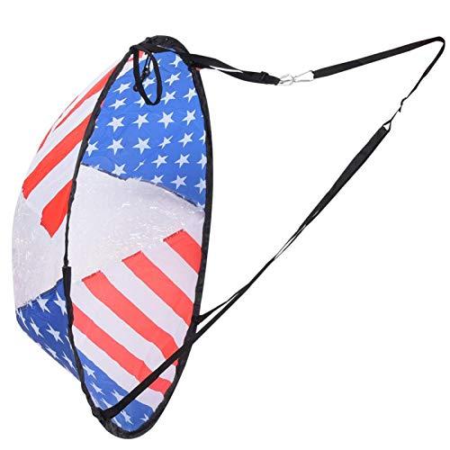Teror Paleta de Viento, patrón de Bandera de Paleta de Vela de Viento Plegable de 108 CM con Ventana de Transparencia para canotaje, Kayak, velero