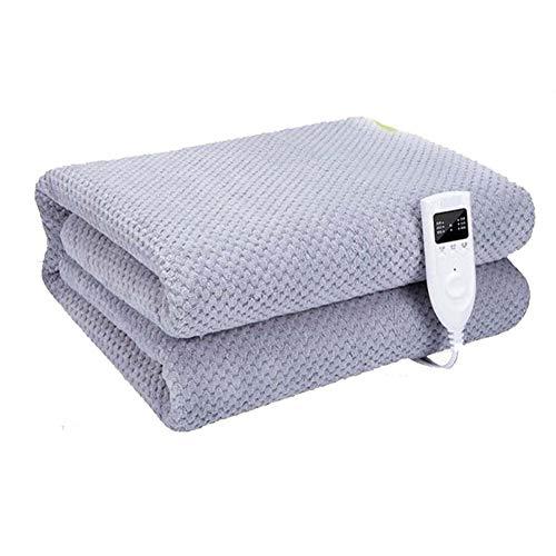 CRYX elektrisch verwarmde deken, afmetingen 200 x 180 cm, deken van zacht fleece, dekbed met timer, 3 regelaars van de warmte-instellingen