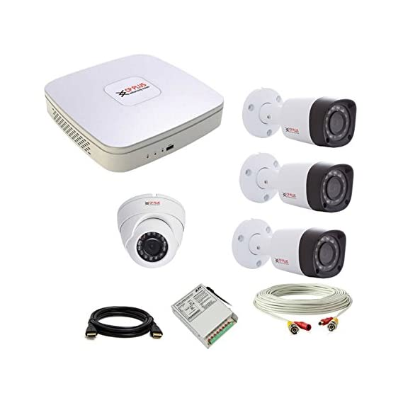 CP Plus 1.3MP (720P) 3 Dome & 1 Bullet Camera with 2MP 4CH Lite Cosmic DVR Combo without Hard Disk.
