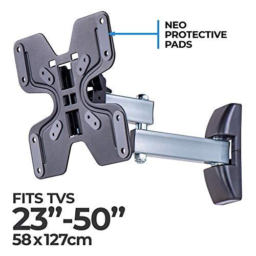 AmazonBasics Performance vollbewegliche TV-Doppelarm-Wandhalterung für 58,4-127 cm (23-50 Zoll) TV-Geräte