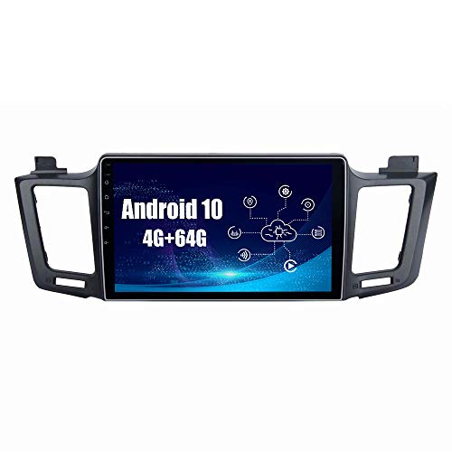 SYGAV Android 10 Car Radio for 2013-2018 Toyota RAV4 Stereo Built in Carplay Android Auto GPS Navigation with 10.2 Inch IPS Touch Screen Head Unit Player