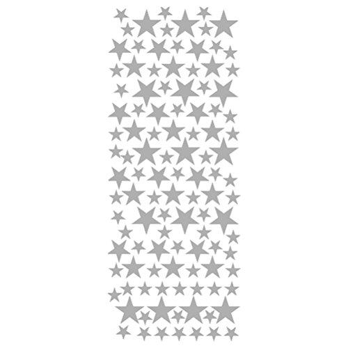 WINOMO Étoile Stickers Muraux Amovibles (Argent Mat)