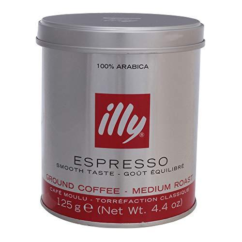 illy Kaffee, Gemahlener Espresso klassische Röstung - 1 Dose zu 125 g