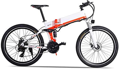 Bicicleta, 26'Aleación de Aluminio de Bicicleta de montaña eléctrica 48V 12.8Ah Batería de Litio de Litio 500W Mountain Cycling Bicycle, Engranaje de 21 velocidades, Freno de Aceite XOD