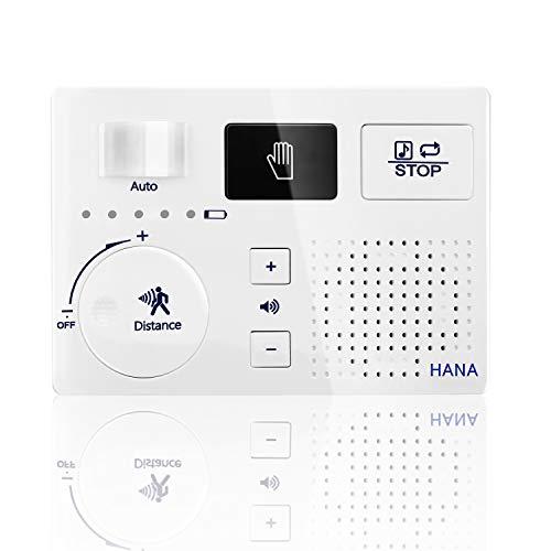 トイレ用擬音装置 自動人体検知 消音器 流水音発生器 音消し 擬音機 流水音 SDカード対応 電池とACアダプターの両方に対応 壁付け 節水 ECOメロディー