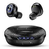 bakibo Auriculares Bluetooth 5.1, Inalámbricos Auriculares IPX7 Impermeable con USB C 27 Horas Caja de Carga Portátil, CVC 8.0 Auriculares in Ear Hi-Fi Bass, Micrófono Integrado, Control Táctil