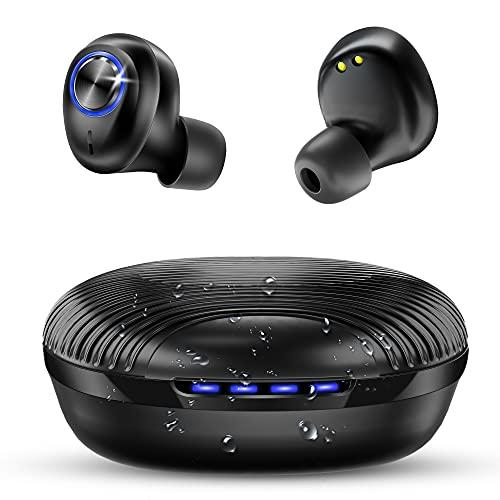 bakibo Bluetooth Kopfhörer, Wireless Kabellos Kopfhörer in Ear IPX7 Wasserdicht mit USB C 27 Stunden Tragbare Ladebox, Earbuds Hi-Fi Bass Ohrhörer, Integriertem Mikrofon