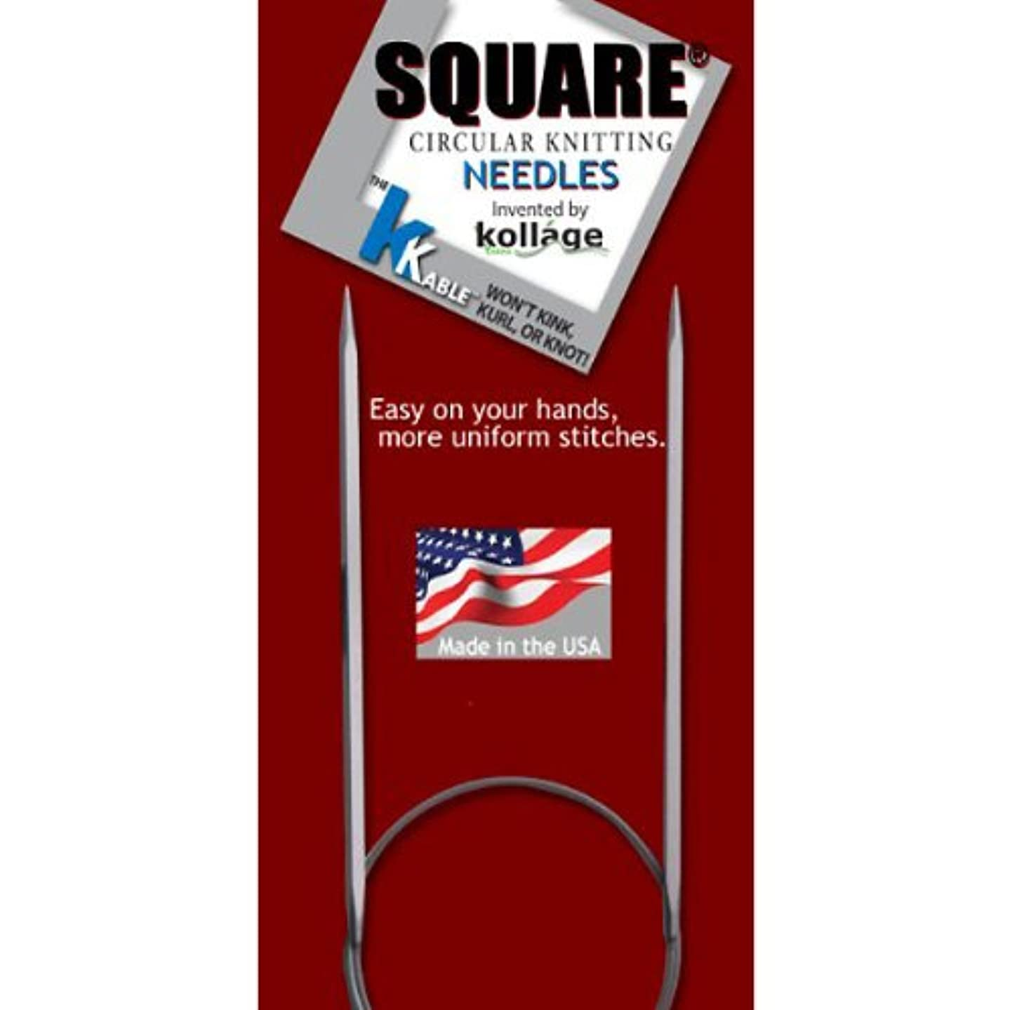 Kollage Square Circular 16-inch (41cm) Knitting Needle Soft Cable; Size US 11 (8.0mm)