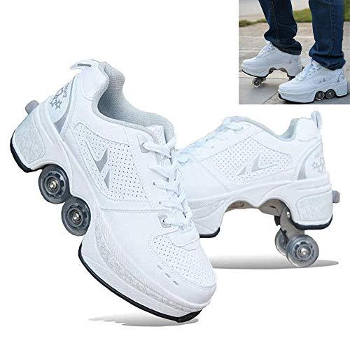 HealHeatersR Roller Schoenen Schaats voor Vrouwen Mannen Verwijderbare Vervorming Roller Schoenen Automatische Wandelen Schoenen Onzichtbare Vierwielige Jongens Kids Roller Schoenen