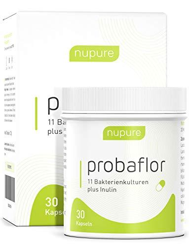 Kulturen Komplex - 30 Kapseln + Inulin - 11 Stämme - magensaftresistent - Probaflor mit Milchsäurebakterien und Bifidobakterien - 1 Monatsvorrat