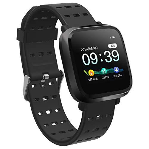 ACAMPTAR Reloj Inteligente Hombres Presión Arterial Ip67 Impermeable Rastreador De Fitness Reloj Smartwatch para iOS Android Dispositivos Portátiles Negro