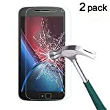 TANTEK [2-Pack] Screen Protector for Motorola Moto G4 Plus/Moto G Plus (4th Generation) [5.5 Inch,2016],Tempered Glass Film,Ultra Clear,Anti Scratch,Bubble Free,Case Friendly