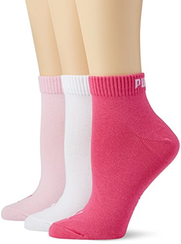 PUMA Quarter Damen Sneakers Socken 9er Set 9 Paar - Pink Lady: Größe: 35/38