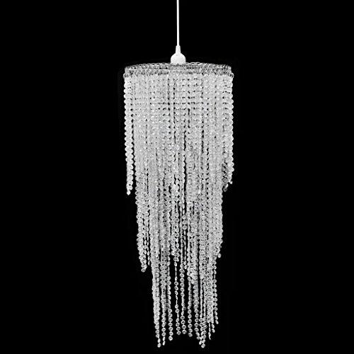 Luckyfu Lampadario da Soffitto con Paralume Cristallo 26 x 70 cm.lampadari moderni lampadari rustici lampadari moderni soggiorno lampadari cristallo lampadari soffitto