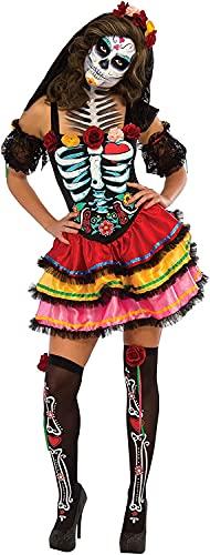 Rubies Disfraz oficial del Día de los Muertos de Senorita para mujer, disfraz de Halloween