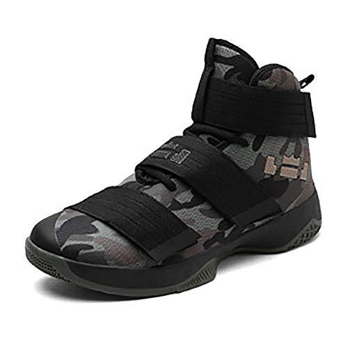 XIGUAFR Chaussure de Basketball Homme Montante Respirant Chaussure de Sport Outdoor Antichoc Résistant à l'usure Camouflage 43