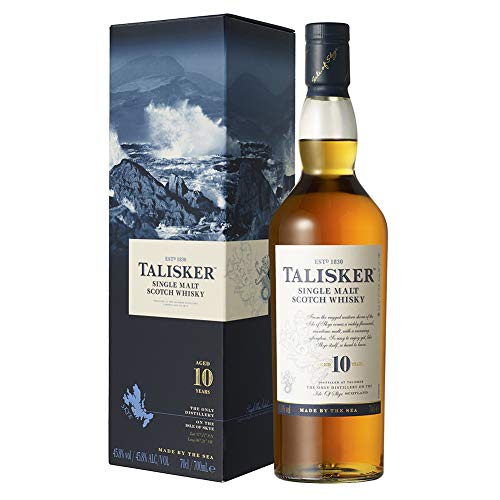 Talisker 10 Jahre Single Malt Scotch Whisky – In traditioneller Geschenkbox – 1 x 0,7l