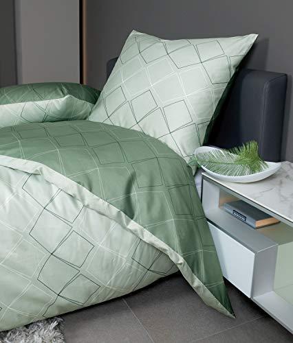 Janine Design Mako-Satin Bettwäsche J.D. 87053-06 1 Bettbezug 135 x 200 cm + 1 Kissenbezug 80 x 80 cm