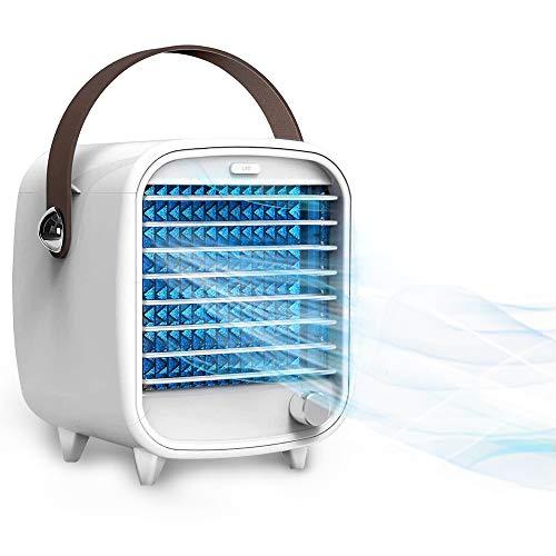 DryMartine Mini Air Cooler Tragbare Klimaanlage Persönliche Klimaanlage Ventilator USB Persönlicher Raum Kühler Ventilator Eingebaute Eisbox 3 Geschwindigkeiten Desktop Kühler Ventilator