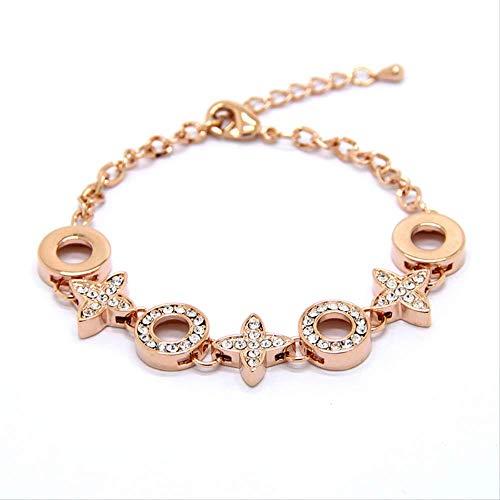 LFWQ Fashion Diamanten Armband Gestroomlijnde Honderd-Set Dames Hand Sieraden Armband